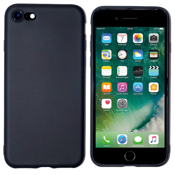 Backcover TPU für iPhone 7 Schwarz / Black