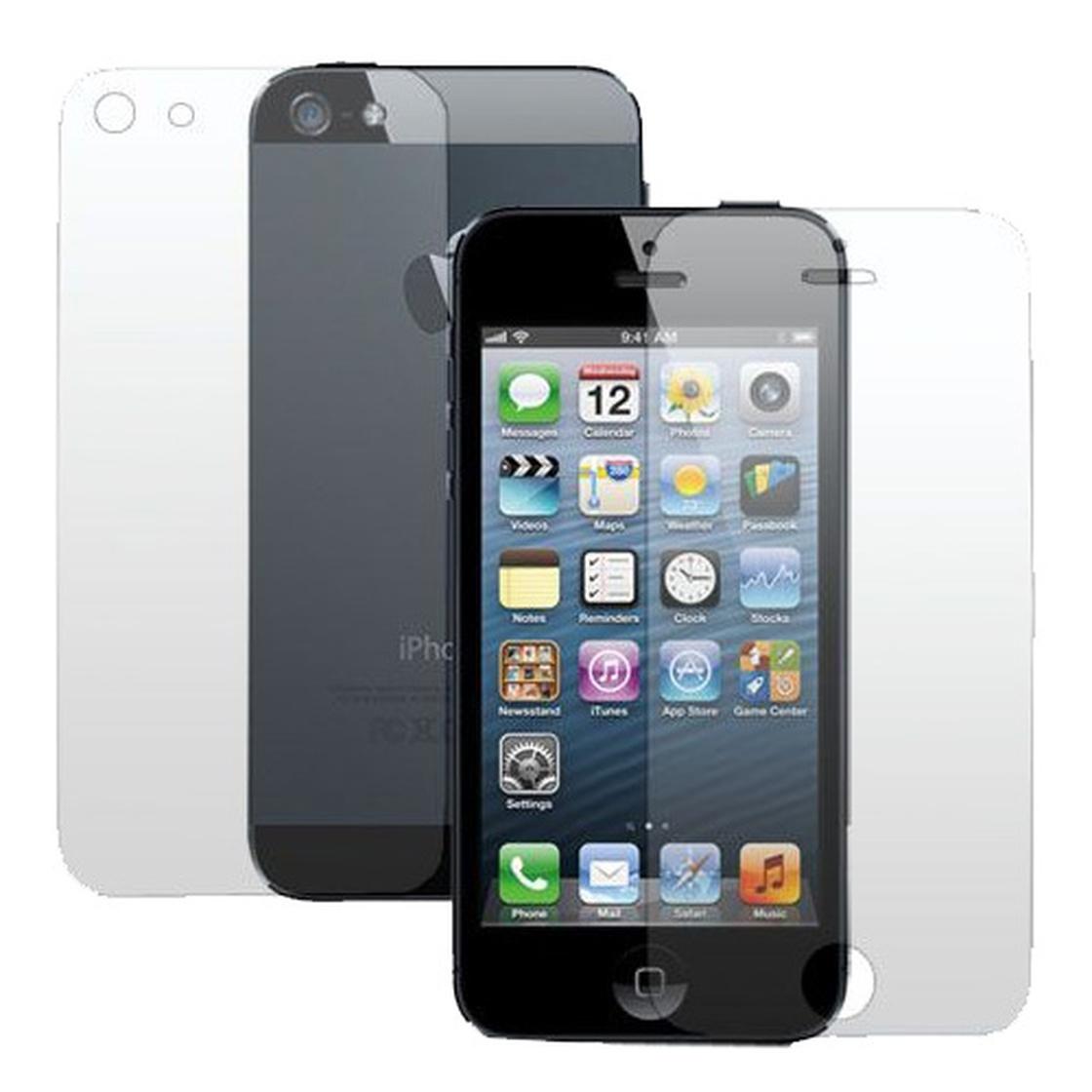 displayschutzfolie f r iphone 5s 5se 5c 5 front back 2 tlg. Black Bedroom Furniture Sets. Home Design Ideas