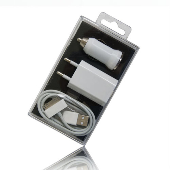 3in1 iPhone 4 4S 3G 3GS Ladeset