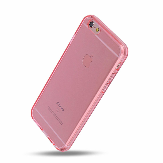 Phoneparts Beneficial Silikon Case für iPhone 6 Plus + / 6S Plus + || Transparente Gummi Schutz Hülle in Pink
