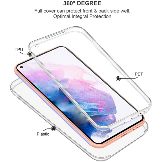Ultra Dünne 360° Front + Back TPU Hülle für Samsung Galaxy Note 10 Transparent
