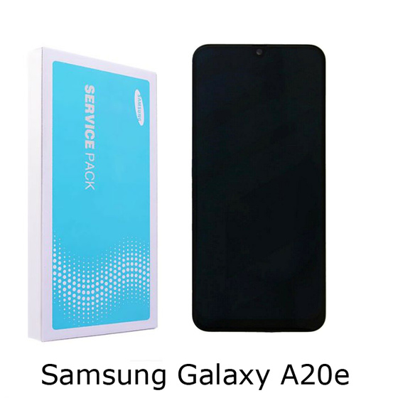 Samsung A202F Galaxy A20e LCD Display in Schwarz Black