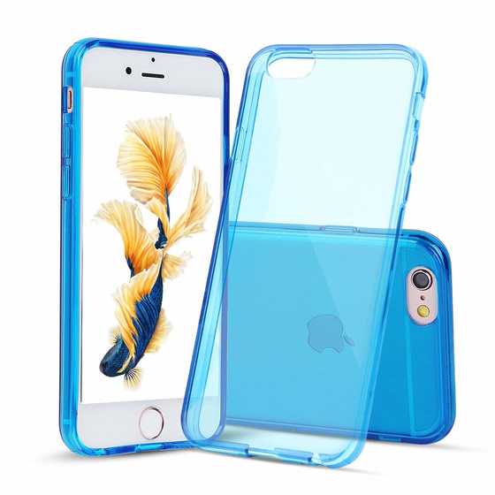 Ultra Dünne TPU Hülle für iPhone 6 / 6S Transparent Blau