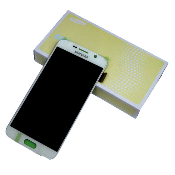 Samsung G920F Galaxy S6 LCD Display in Weiß pearl-white